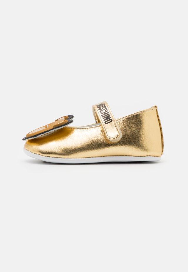 Chaussons pour bébé - gold