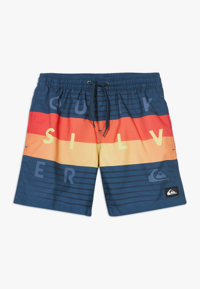 Quiksilver - WORD BLOCK VOLLEY YOUTH - Swimming shorts - majolica blue