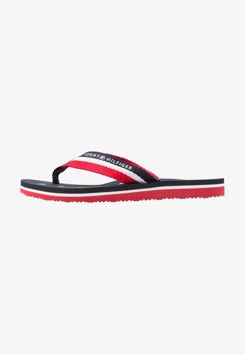LOVES BEACH - T-bar sandals - blue