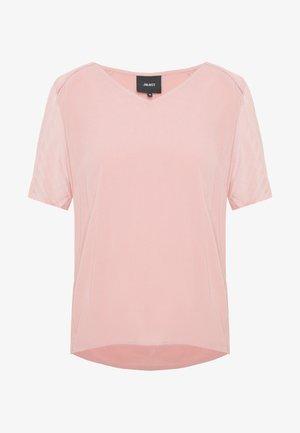 OBJZOE - T-shirt print - misty rose