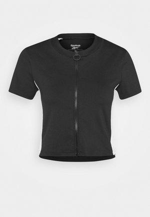 WOR CROP - T-Shirt basic - black