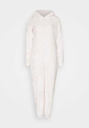 GIRAFFE LUXURY HOODED ONESIE - Pyjama - beige
