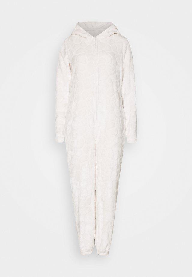 GIRAFFE LUXURY HOODED ONESIE - Pyjamas - beige