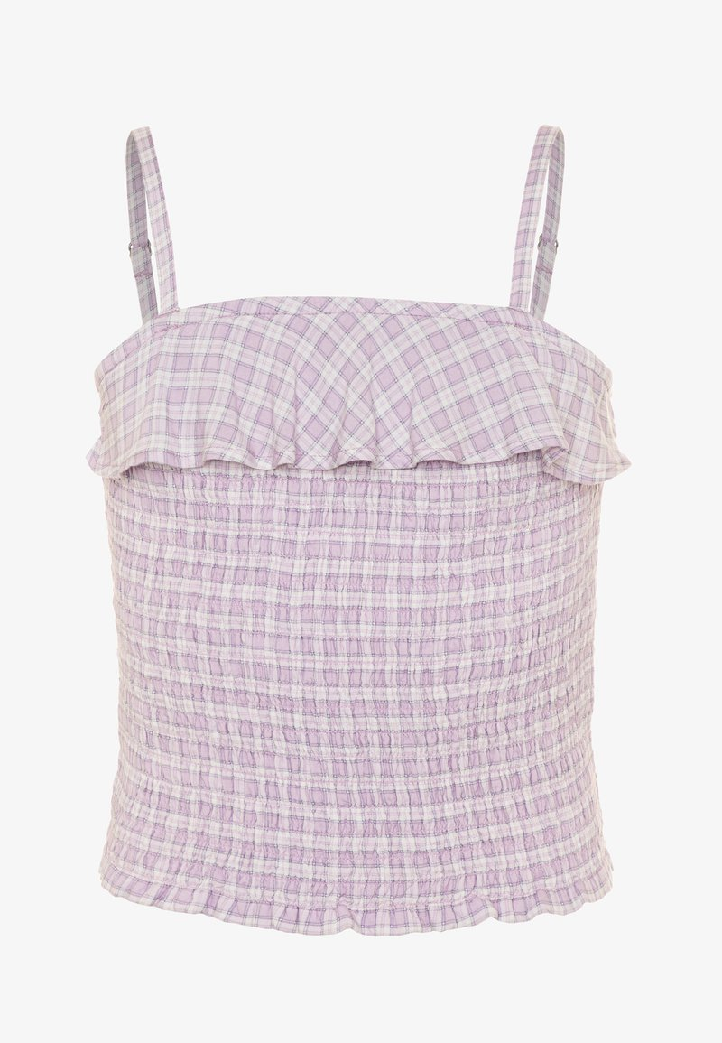 Abercrombie & Fitch - SMOCKED MATCH  - Top - lilac