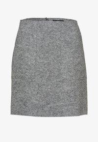 MIT WOLLE - A-Linien-Rock - silver grey-m