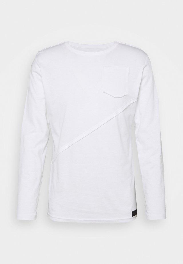LONGSLEEVE LINE - Long sleeved top - weiß