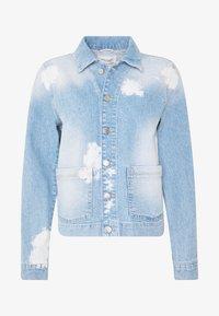 Marc O'Polo DENIM - JACKET JACKET PATCHED POCKETS  BLEACHED TIE DYE DE - Veste en jean - blue - 4