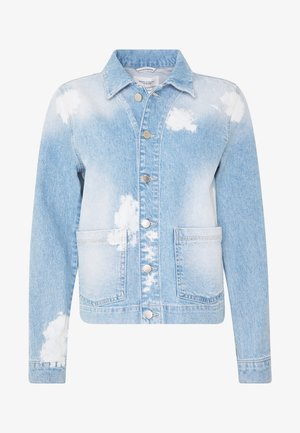 JACKET JACKET PATCHED POCKETS  BLEACHED TIE DYE DE - Denim jacket - blue