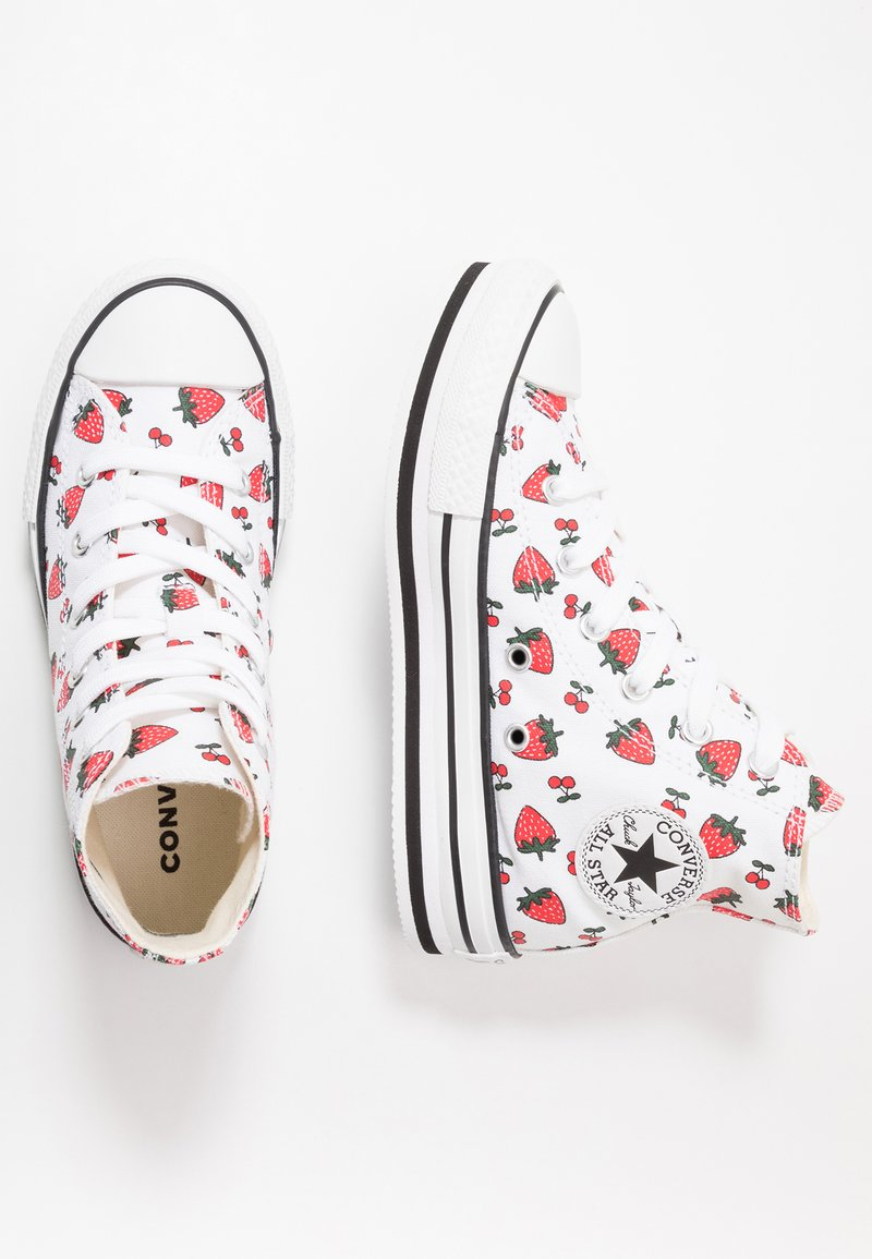 Converse - CHUCK TAYLOR ALL STAR PLATFORM EVA - Sneakers alte - white/garnet