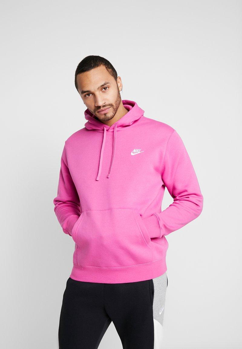 Nike Sportswear - CLUB HOODIE - Luvtröja - active fuchsia/cosmic fuchsia/white