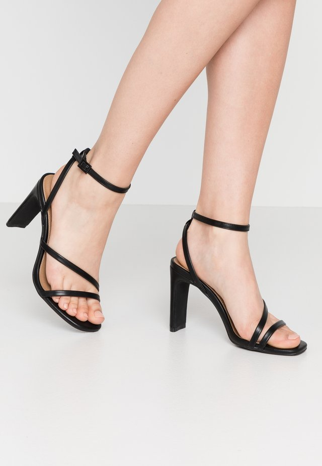 LORINDA STRAPPY - High heeled sandals - black