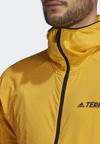 adidas Performance - TERREX SKYCLIMB FLEECE JACKET - Fleece jacket - yellow - 5
