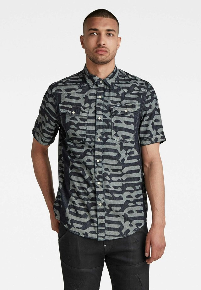 3301 SLIM - Overhemd - rinsed gothic vert