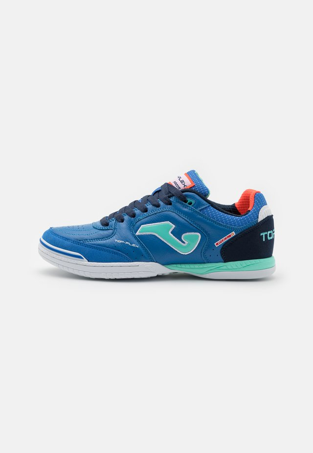 TOP FLEX - Indoor football boots - royal/turquoise