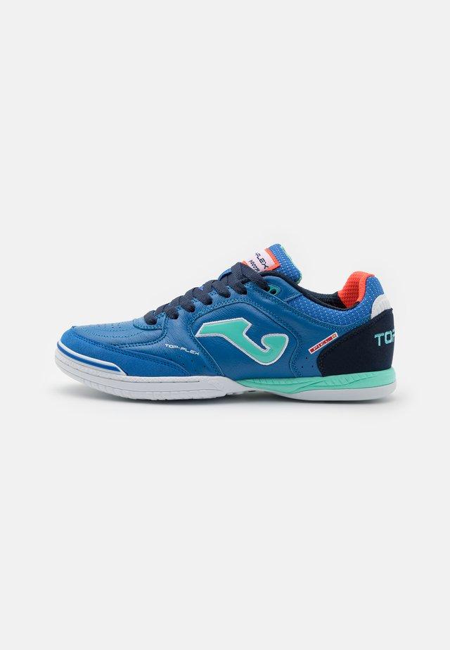 TOP FLEX - Futsal-kengät - royal/turquoise