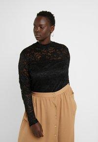 Anna Field Curvy - Långärmad tröja - black - 0