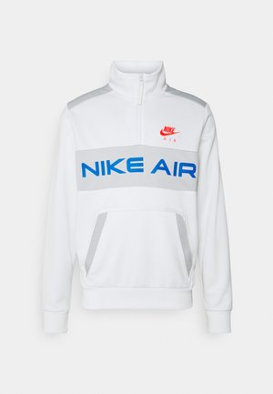 Sweatshirt - summit white/grey fog/signal blue/infrared