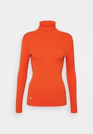 TURTLE NECK - Jersey de punto - dusk orange
