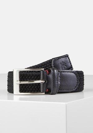 HARVEY - Braided belt - black