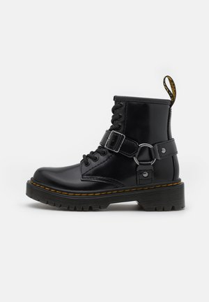 1460 HARNESS UNISEX - Lace-up ankle boots - black