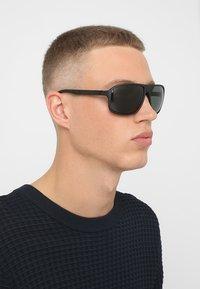 Emporio Armani - Sunglasses - matte black/green - 1