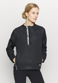 Under Armour - MOVE HALF ZIP - Sweatshirts - black - 0