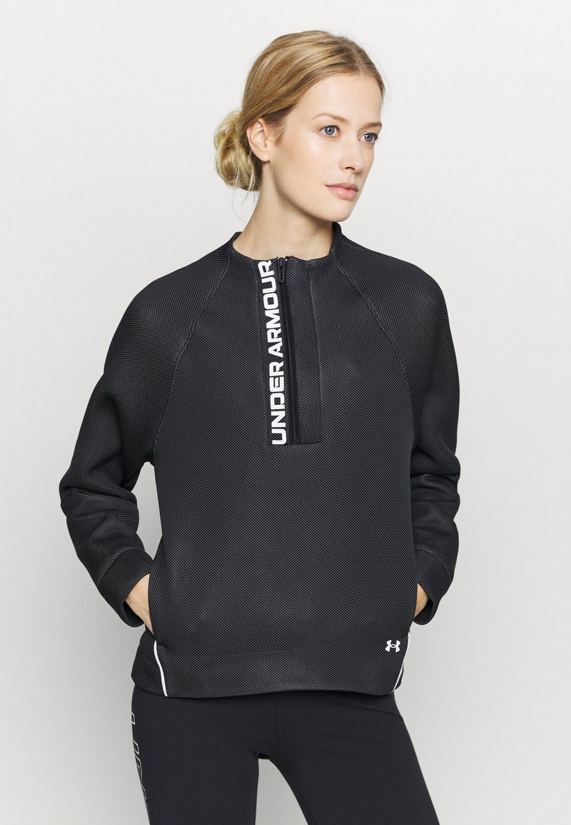 Under Armour - MOVE HALF ZIP - Bluza - black