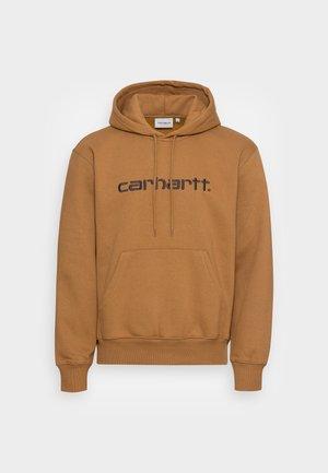HOODED CARHARTT  - Hoodie - hamilton brown/black