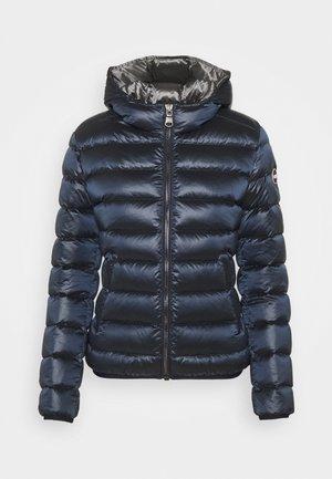 LADIES JACKET MATTE HOOD - Down jacket - navy blue dark steel