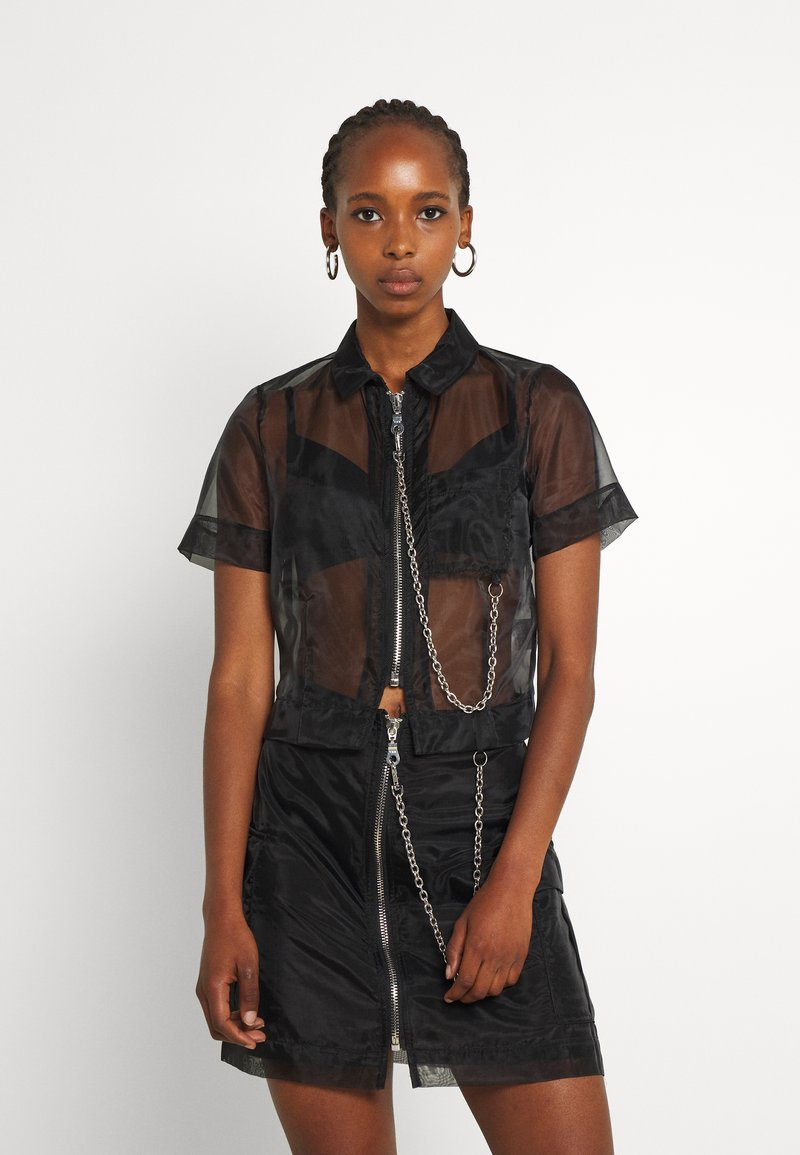 The Ragged Priest - CRYBABY SHIRT - Button-down blouse - black