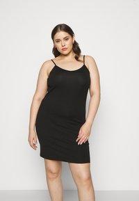 Zizzi - STRAP LONG - Pouzdrové šaty - black - 0