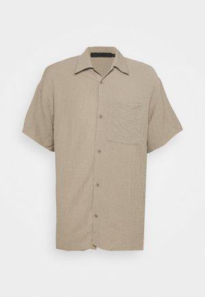 CRINKLE SHIRT - Shirt - taupe
