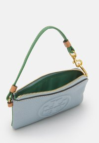 Tory Burch - PERRY BOMBE COLOR BLOCK TOP-ZIP CARD CASE - Wallet - icicle - 2