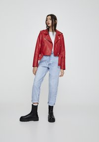 PULL&BEAR - Faux leather jacket - metallic red - 1