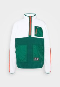 MIX FABRIC MOCK NECK UNISEX - Fleece jumper - white