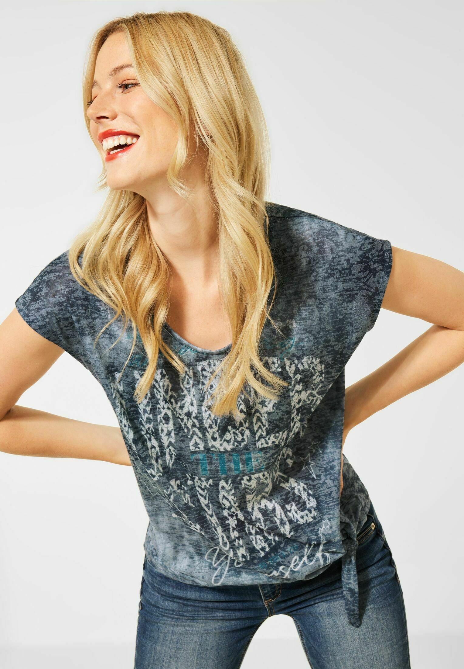 Damen MIT KNOTEN DETAIL - T-Shirt print