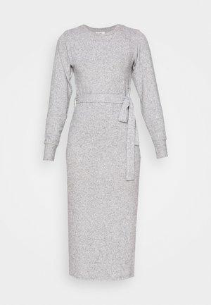 CUT AND SEW BELT MIDI - Jersey dress - grey