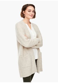 s.Oliver - Cardigan - light sand melange - 0