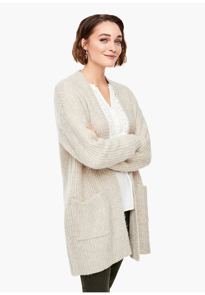 s.Oliver - Cardigan - light sand melange