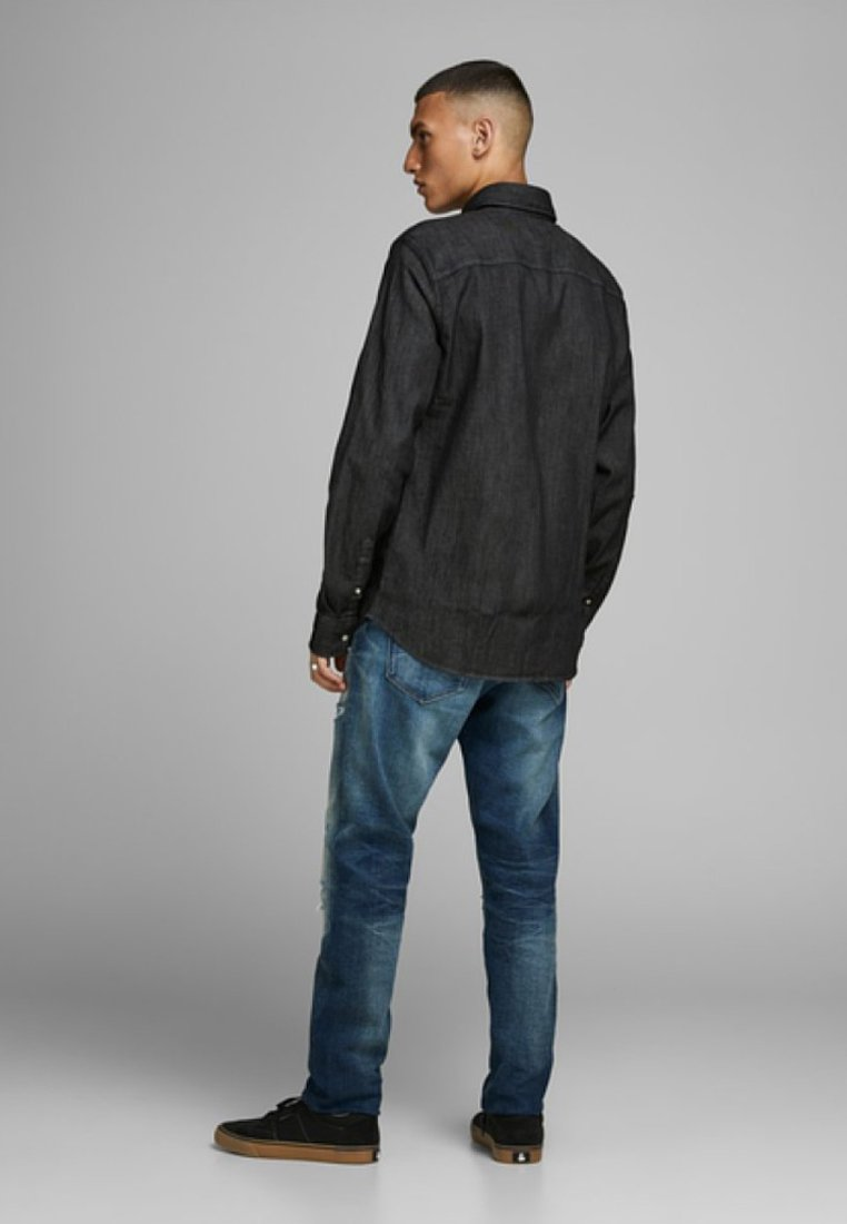 Jack & Jones LEON - Hemd - black denim Vn0Pxb