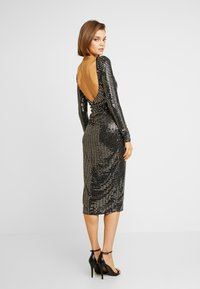 Missguided - SEQUIN OPEN BACK BODYCON MIDI DRESS - Cocktail dress / Party dress - black - 3