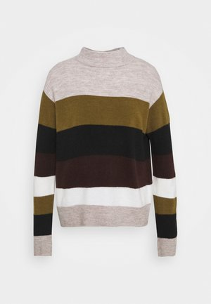 Jumper - beige/green