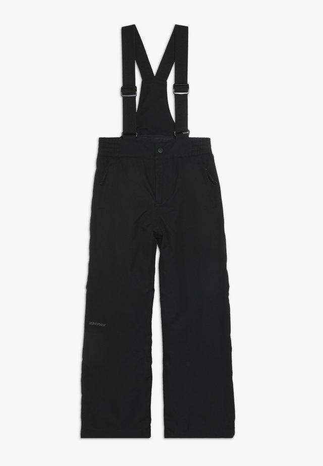 ALENKO JUNIOR - Snow pants - black