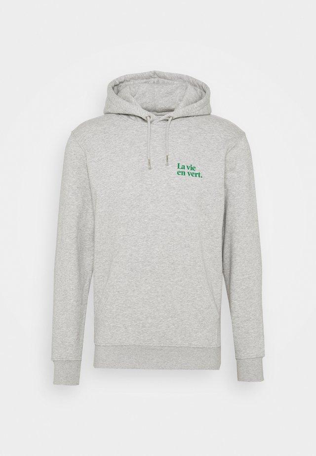 HOODIE LA VIE EN VERT UNISEX - Huppari - grey green