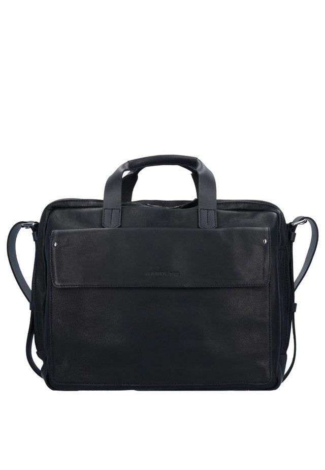 IVY LANE AKTENTASCHE LEDER 40 CM LAPTOPFACH - Briefcase - schwarz