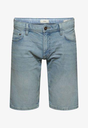 Denim shorts - blue light washed
