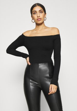 BODYSUIT- OFF SHOULDER - Jersey de punto - black
