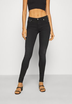 ONLISA4 LIFE REG ZIP - Vaqueros pitillo - black denim