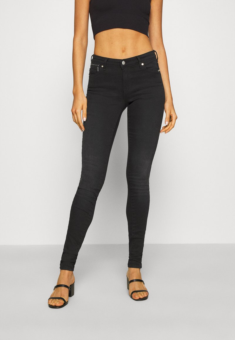 ONLY - ONLISA4 LIFE REG ZIP - Jeans Skinny Fit - black denim