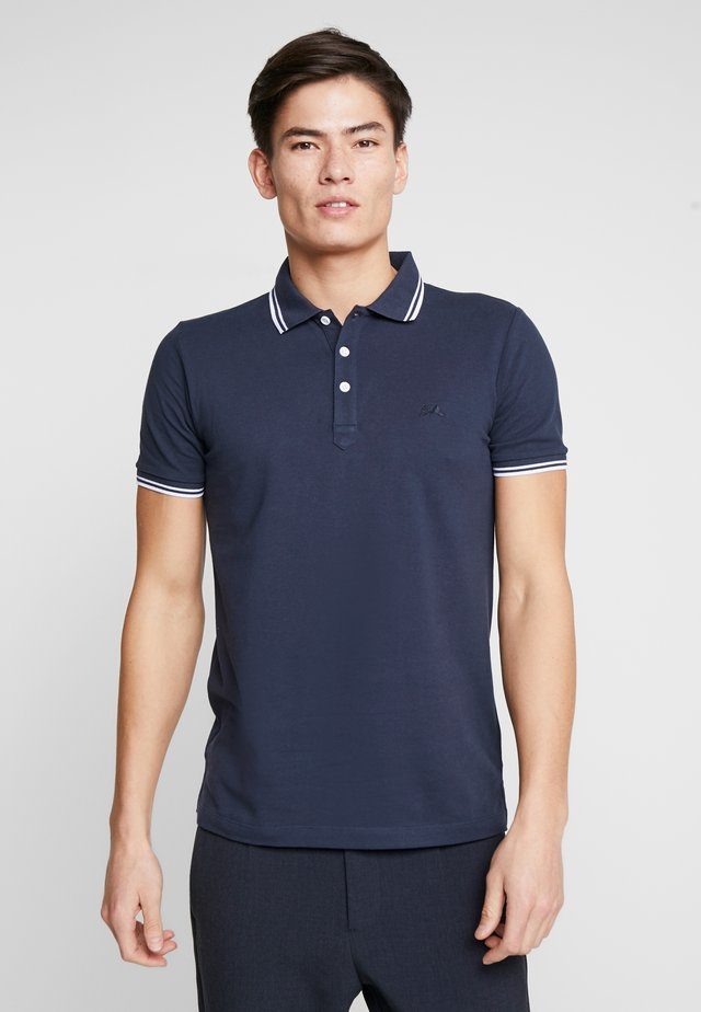 CONTRAST PIPING - Poloshirts - navy